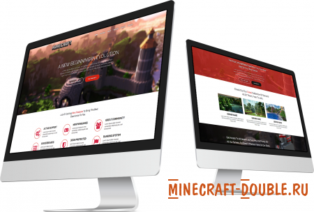 [HTML] Responsive One-Page Minecraft Template